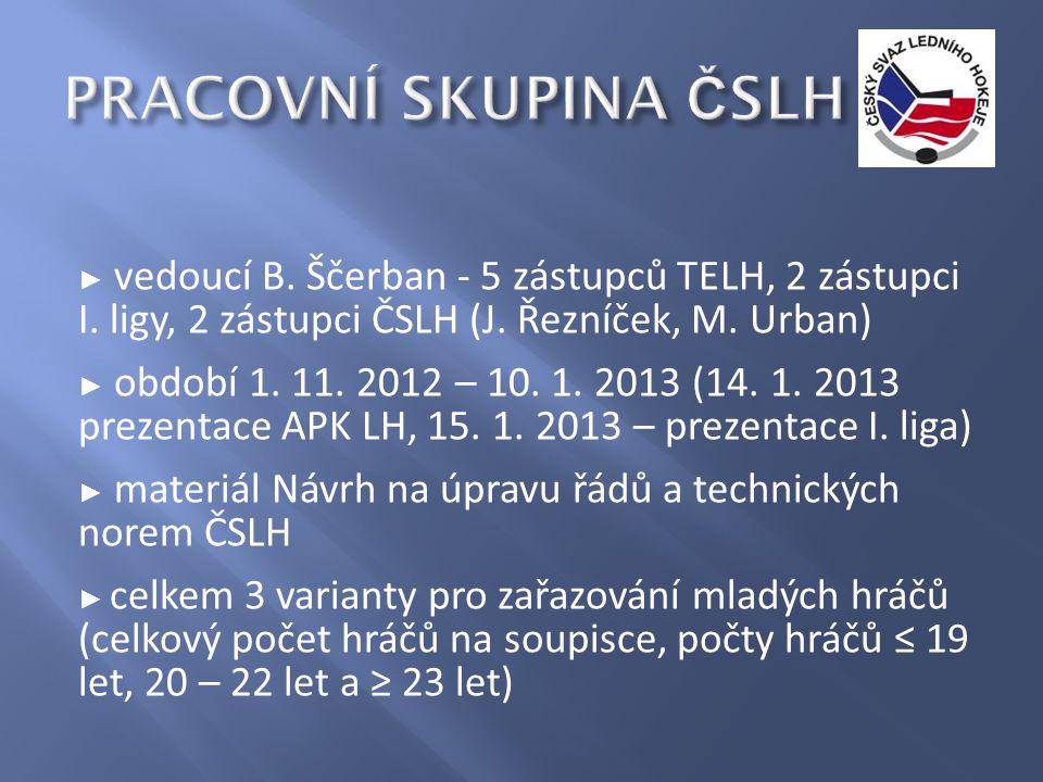 ► vedoucí B. Ščerban - 5 zástupců TELH, 2 zástupci I.