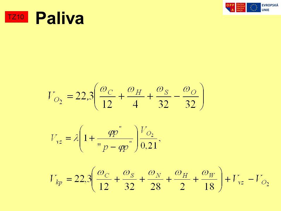 TZ10 Paliva