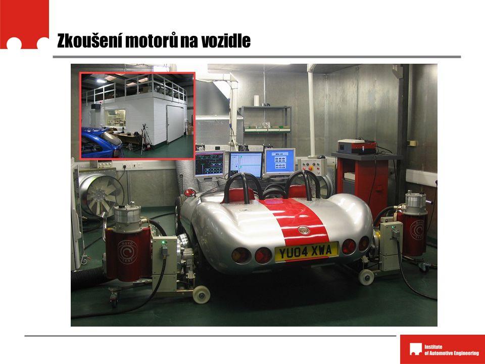 Zkoušení motorů na vozidle