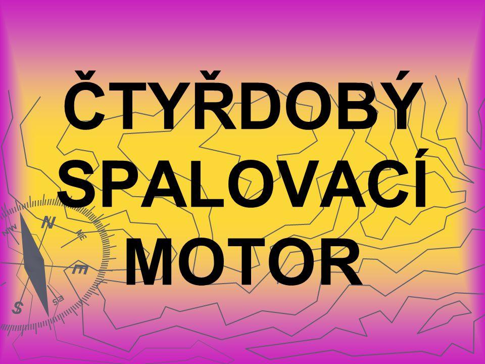 TYPY ZÁŽEHOVÝCH MOTORŮ: ► ► Dvoudobý spalovací motor ► ► Čtyřdobý spalovací motor ► ► Wankelův spalovací motor
