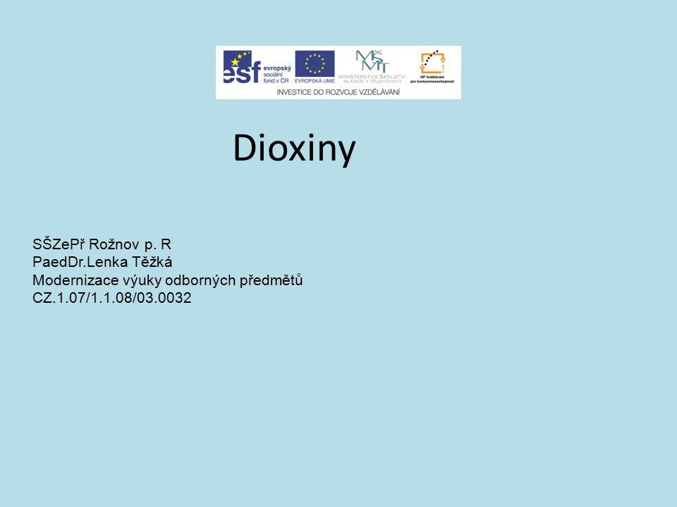 Dioxiny SŠZePř Rožnov p. R PaedDr.Lenka Těžká Modernizace výuky odborných předmětů CZ.1.07/1.1.08/03.0032