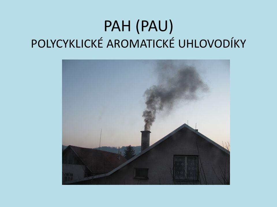 Zdroje: spalovací procesy (lokální topeniště, výfukové plyny, cigaretový kouř)