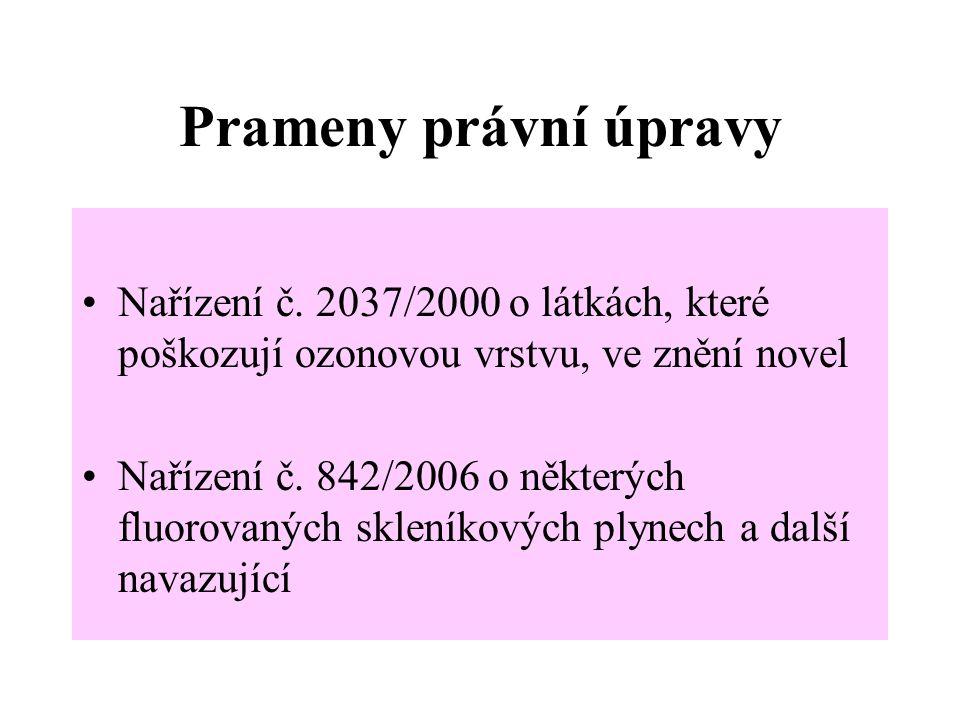 Prameny právní úpravy Nařízení č.