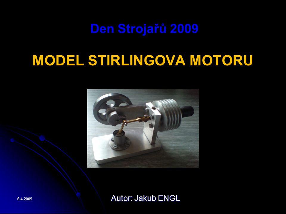 Den Strojařů 2009 MODEL STIRLINGOVA MOTORU 6.4.2009 Autor: Jakub ENGL