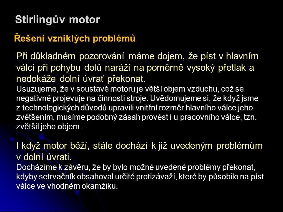 Stirlingův motor Video záznam z funkce motoru