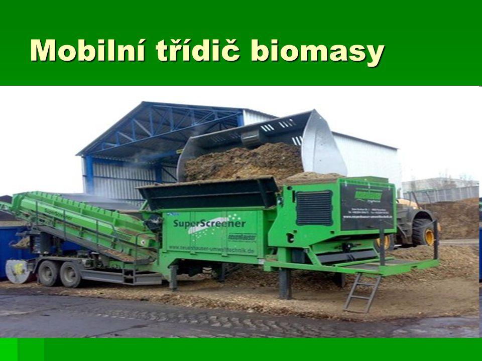 Mobilní třídič biomasy