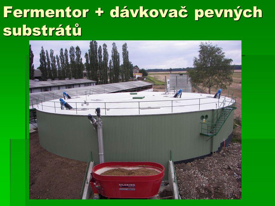 Fermentor + dávkovač pevných substrátů