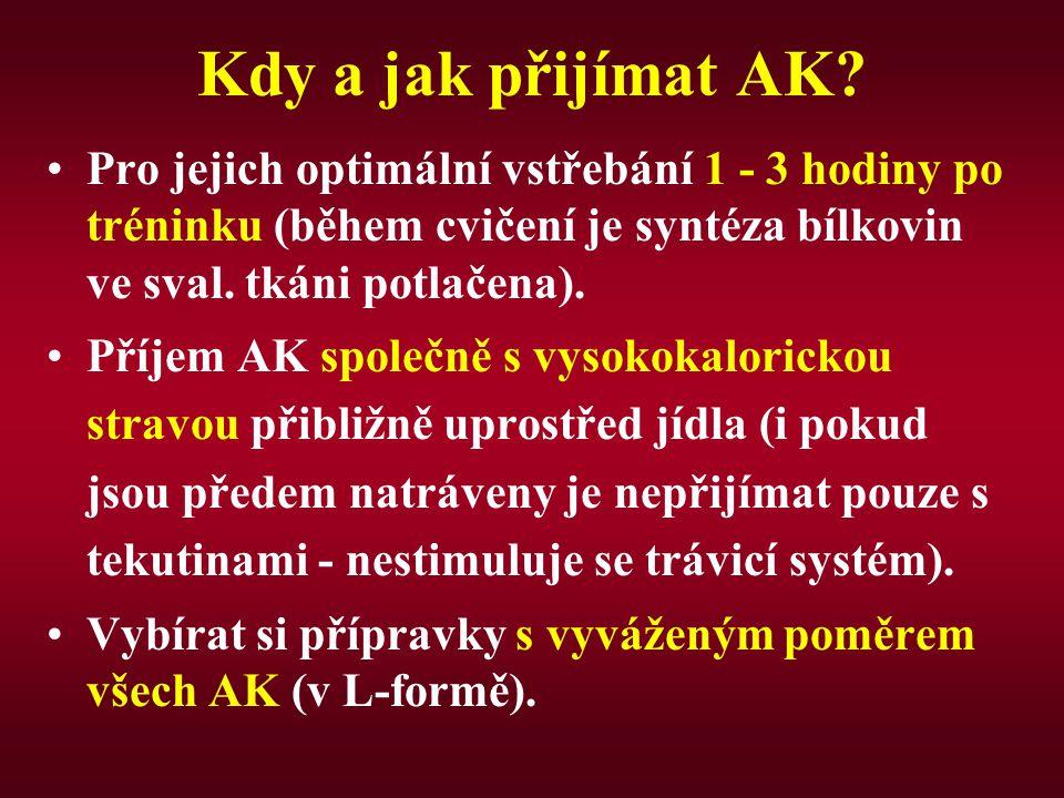 Kdy a jak přijímat AK.
