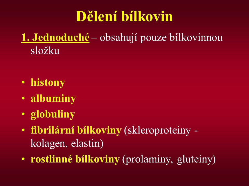 Dělení bílkovin 1.