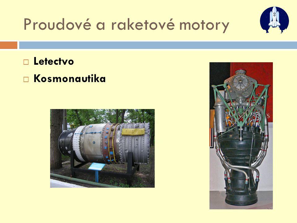 Proudové a raketové motory  Letectvo  Kosmonautika