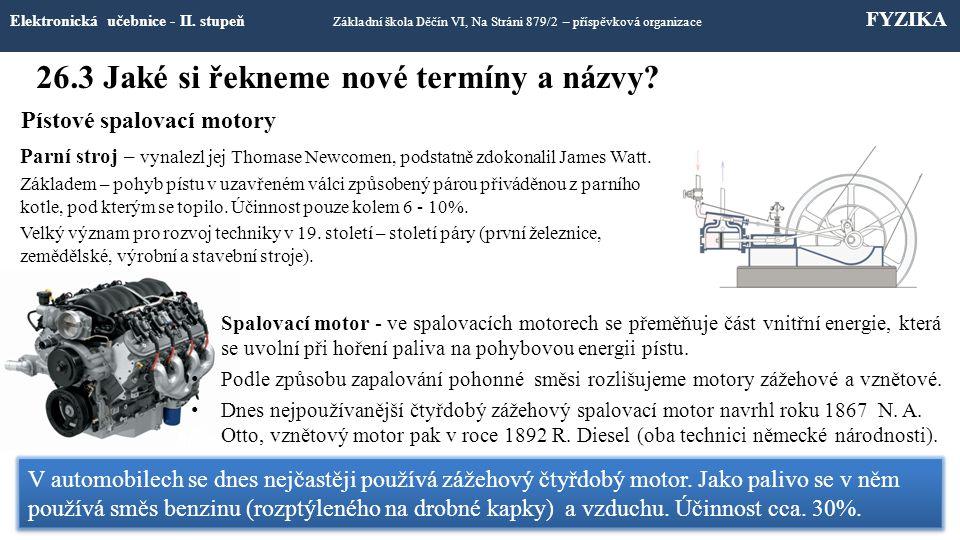 26.3 Jaké si řekneme nové termíny a názvy.Elektronická učebnice - II.