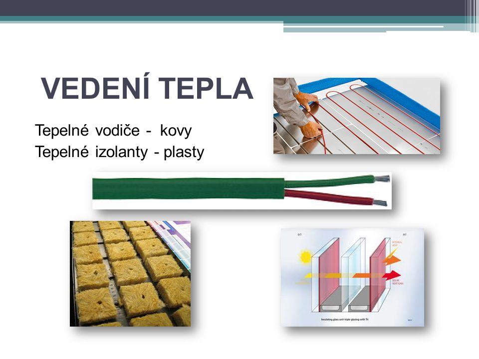 VEDENÍ TEPLA Tepelné vodiče - kovy Tepelné izolanty - plasty