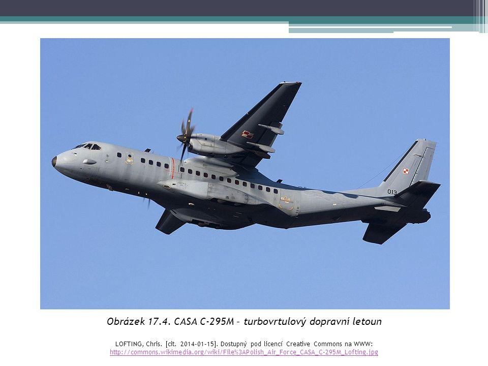Obrázek 17.4. CASA C-295M – turbovrtulový dopravní letoun LOFTING, Chris.  cit. 2014-01-15 . Dostupný pod licencí Creative Commons na WWW: http://co
