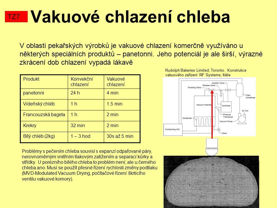 Vakuové chlazení chleba TZ7 V oblasti pekařských výrobků je vakuové chlazení komerčně využíváno u některých speciálních produktů – panetonni. Jeho pot