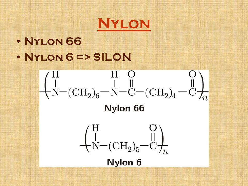 Nylon Nylon 66 Nylon 6 => SILON