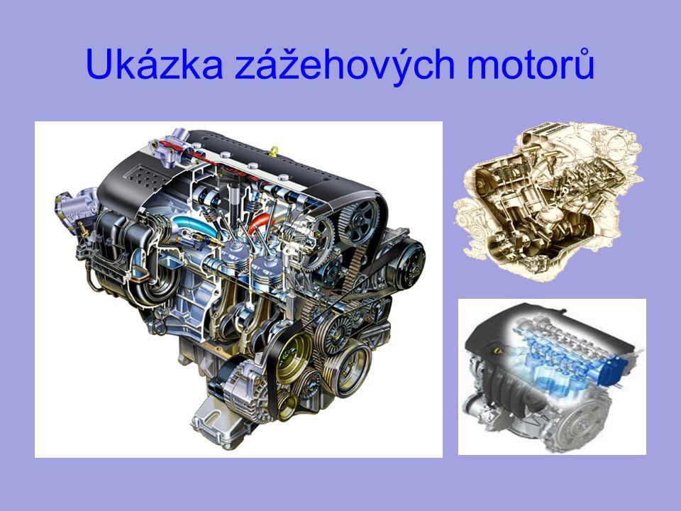 Ukázka zážehových motorů