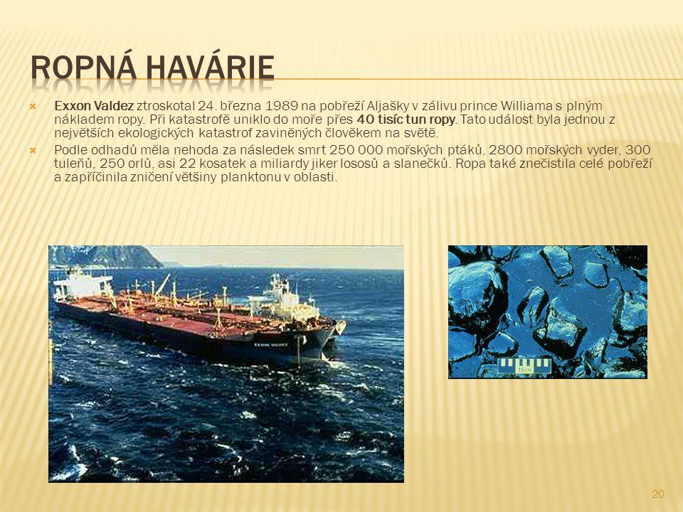 20  Exxon Valdez ztroskotal 24.