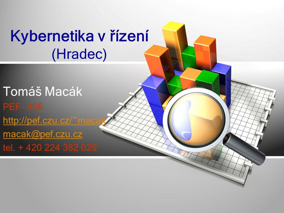 Tomáš Macák PEF- 456 http://pef.czu.cz/~macak macak@pef.czu.cz tel.