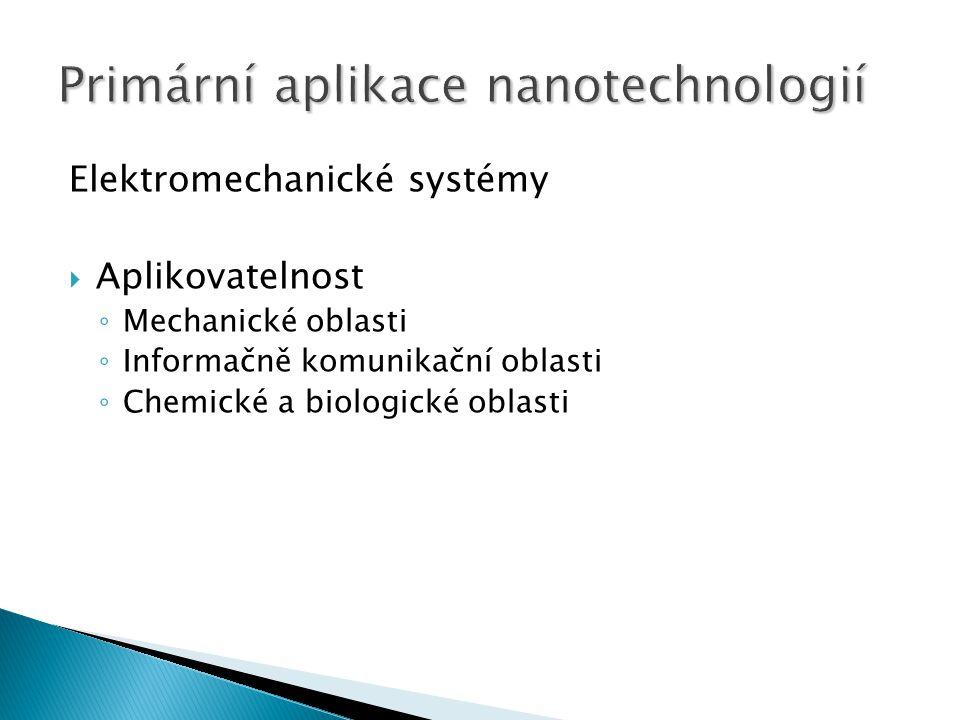 Elektromechanické systémy  Aplikovatelnost ◦ Mechanické oblasti ◦ Informačně komunikační oblasti ◦ Chemické a biologické oblasti