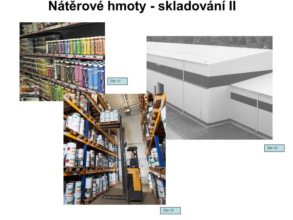 Nátěrové hmoty - skladování II Obr.12 Obr.13 Obr.11