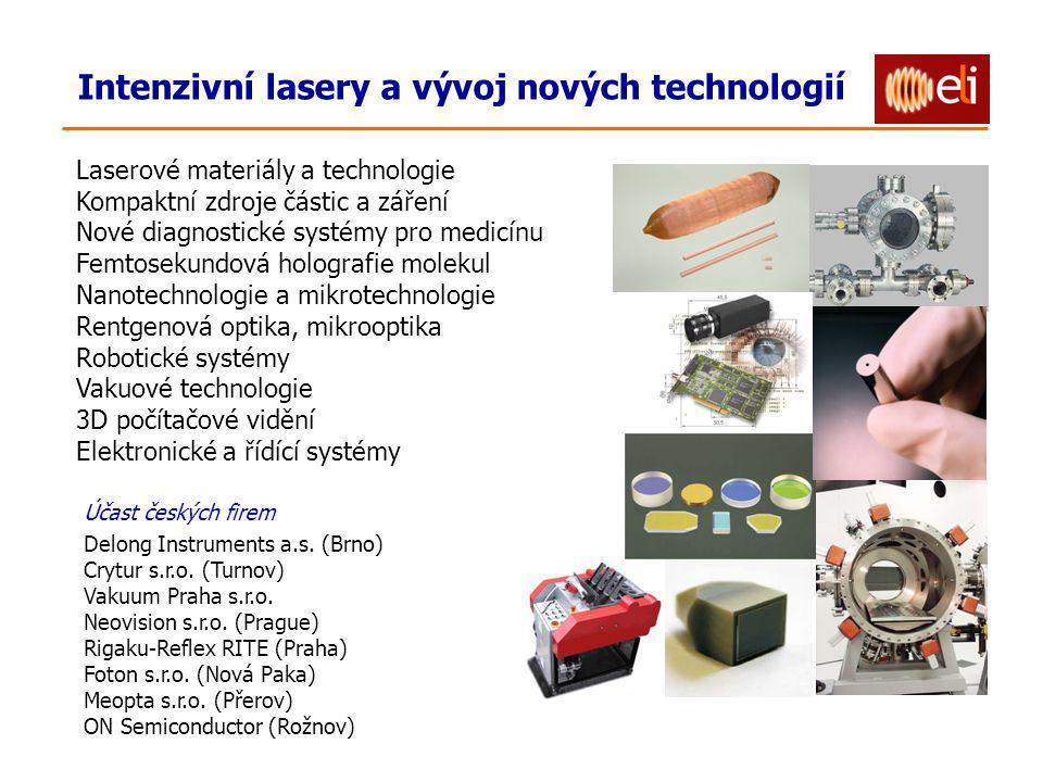Účast českých firem Delong Instruments a.s. (Brno) Crytur s.r.o.
