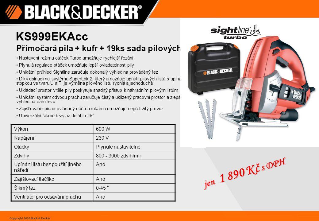 KA270GT Multibruska Sandstorm® 4 v 1 s rukojetí typu GEL TECH™ Výkon170 W Napájení230 V OtáčkyJednorychlostní Otáčky naprázdno13,000 ot./min Excentricita (výstřednost)1 mm Rozkmit2 mm Špičatá základna - broušení v kruhu Ano Špičatá základna - broušení jednotlivých prvků Ano Rukojeť typu Black&Decker® GEL TECH™ maximalizuje komfort Vibrační, detailové a excentrické broušení maximalizuje aplikační využití nářadí Motor s výkonem 170 W zaručuje rychlý a účinný odběr materiálu Ergonomická konstrukce umožňuje komfortní použití každé obsluze Měkká rukojeť poskytuje pohodlný a lepší úchop Systém připevnění brusného papíru urychluje broušení a zvyšuje jeho účinnost Cyklónový zásobník na prach maximalizuje zachytávání prachu a urychluje práci Kabel s délkou 3 m poskytuje komfort jen 1 790 Kč s DPH