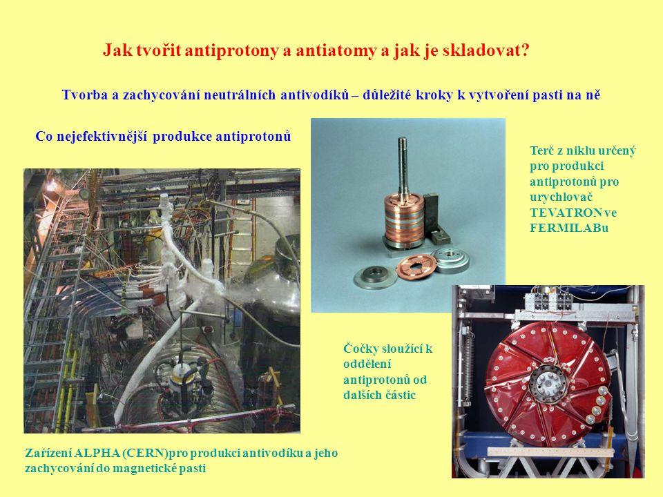 Jak tvořit antiprotony a antiatomy a jak je skladovat? Zařízení ALPHA (CERN)pro produkci antivodíku a jeho zachycování do magnetické pasti Tvorba a za