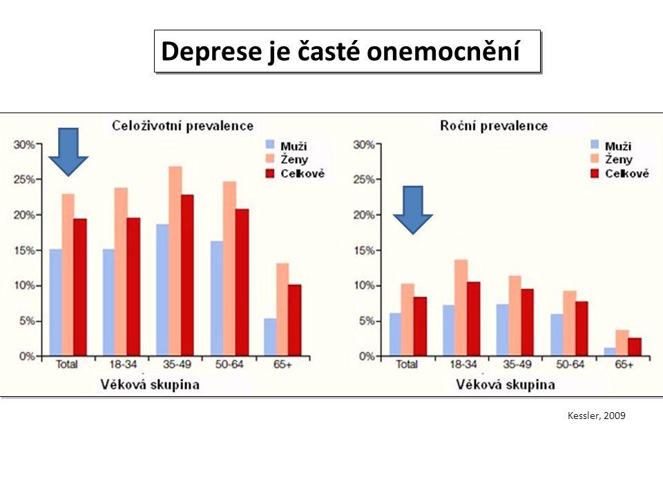 Deprese je časté onemocnění Kessler, 2009