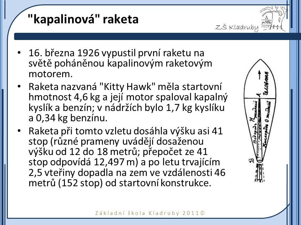 Základní škola Kladruby 2011  kapalinová raketa 16.