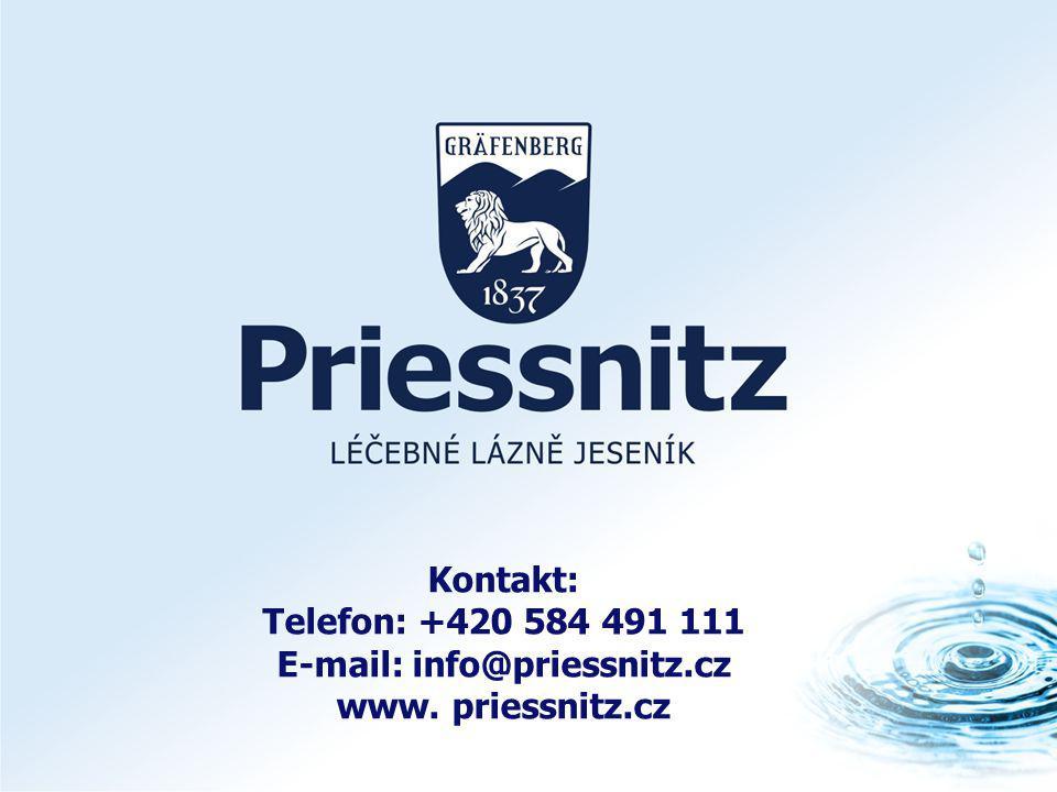 Kontakt: Telefon: +420 584 491 111 E-mail: info@priessnitz.cz www. priessnitz.cz