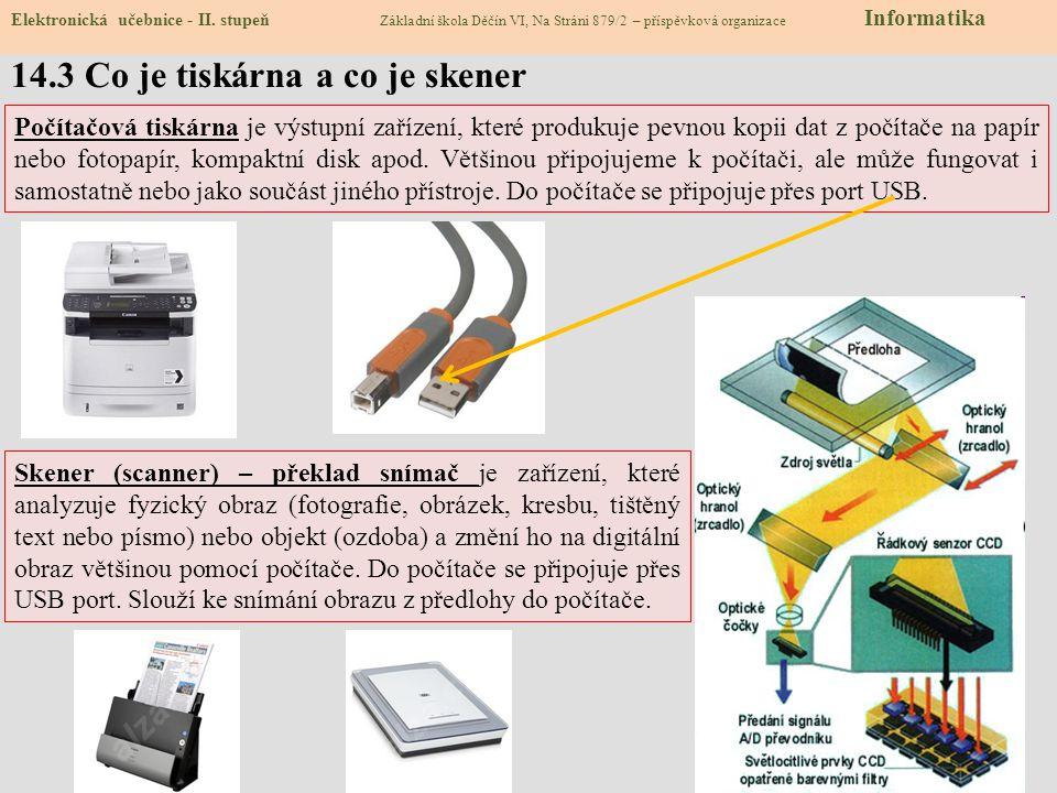 14.4 Typy tiskáren Elektronická učebnice - II.