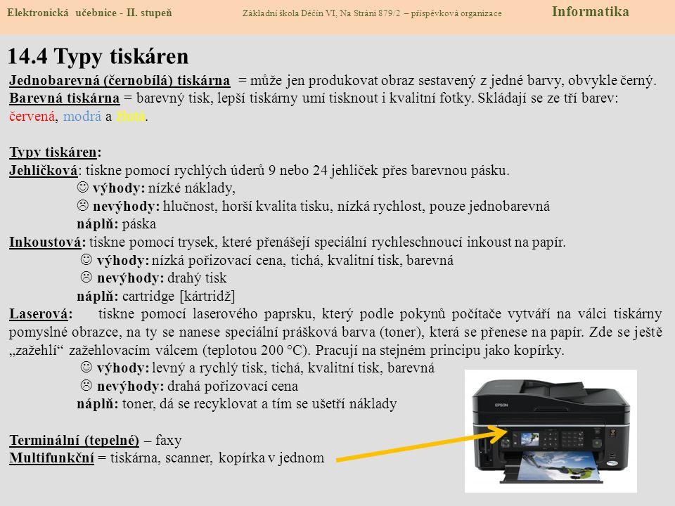 14.5 Cvičení – dělení skenerů Elektronická učebnice - II.