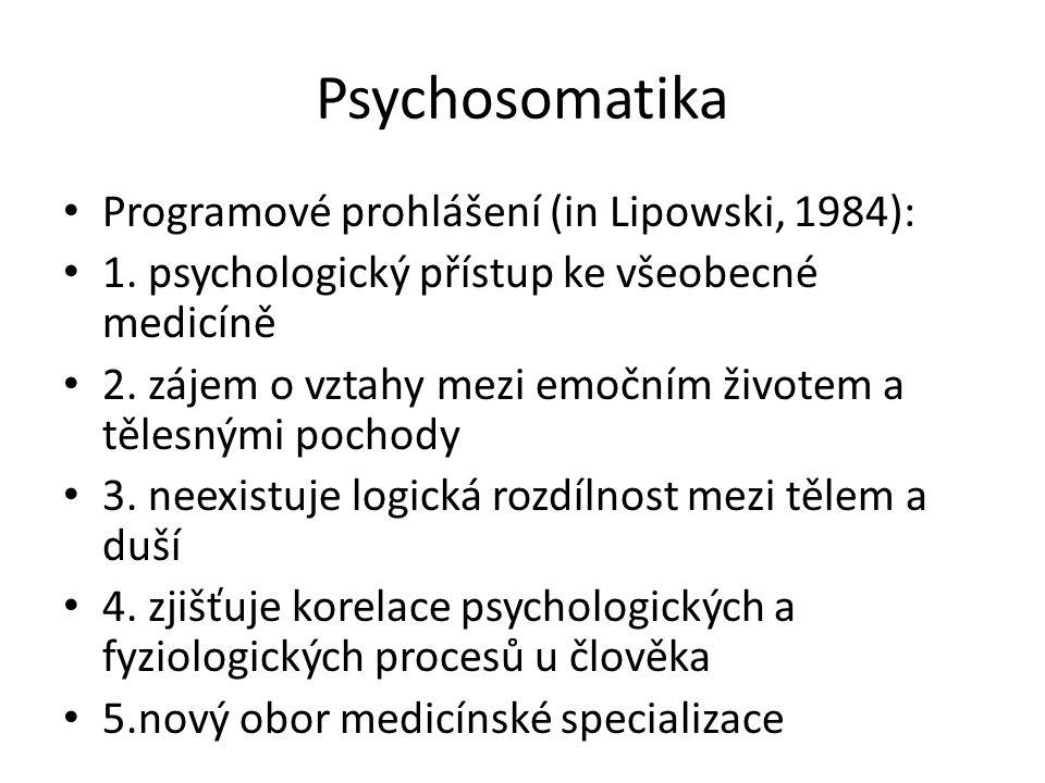 Psychosomatika spojeno s psychoanalýzou tzv.