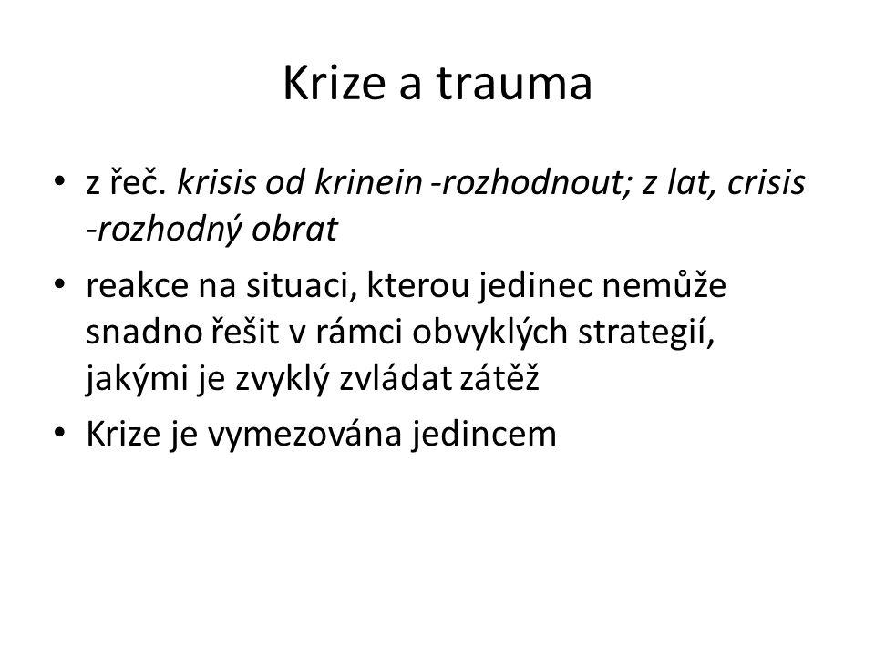 Krize a trauma z řeč.