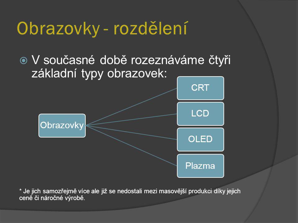  Optická elektronka – vakuová obrazovka  Princip tzv.