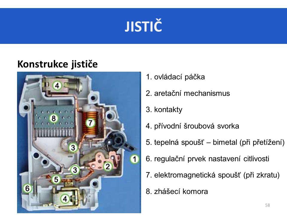 JISTIČ 58 Konstrukce jističe