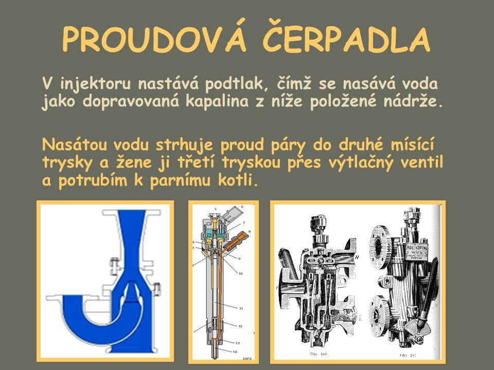 PROUDOVÁ ČERPADLA Příklady injektorů