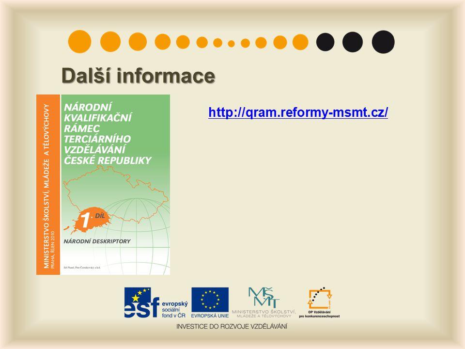 Další informace http://qram.reformy-msmt.cz/