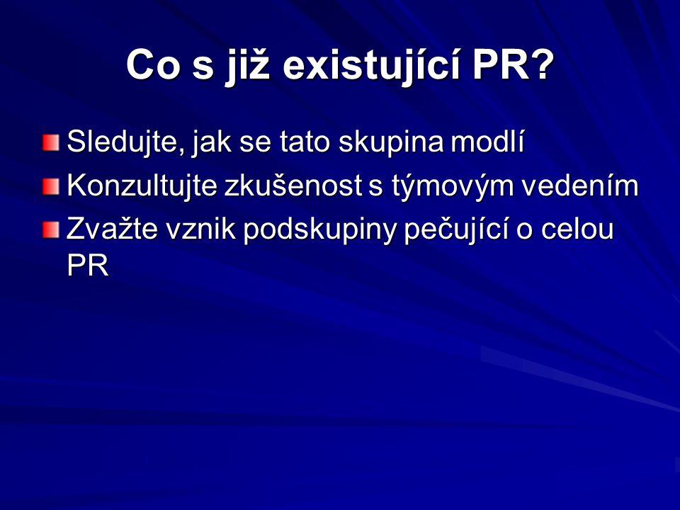 Co s již existující PR.