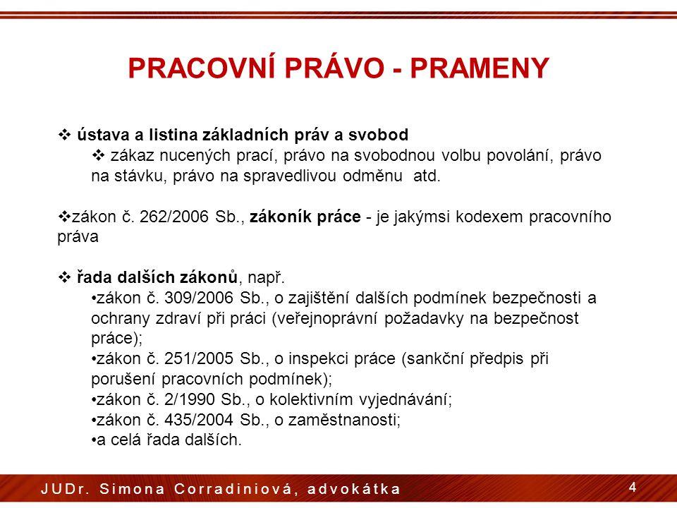 PRÁVO PRACOVNÍ - PRINCIPY  několik specifických zásad, které se odlišují od zásad obecného občanského, soukromého práva  zásady zakotvené v ústavním pořádku České republiky v rámci tzv.