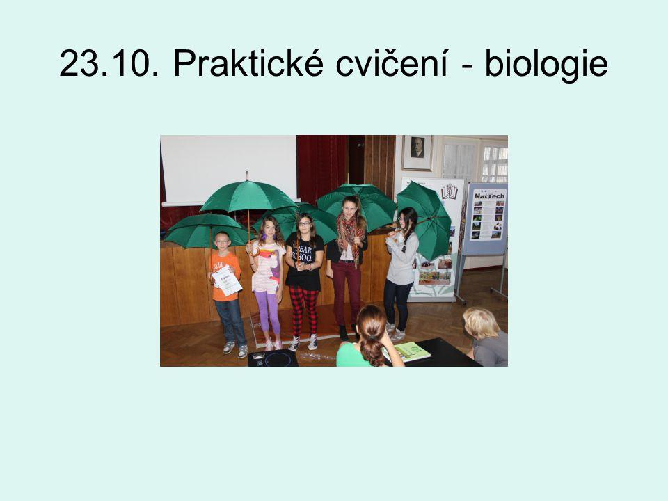 23.10. Praktické cvičení - biologie