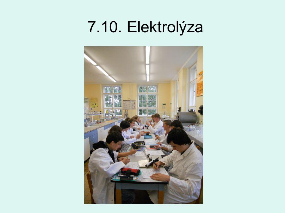 7.10. Elektrolýza