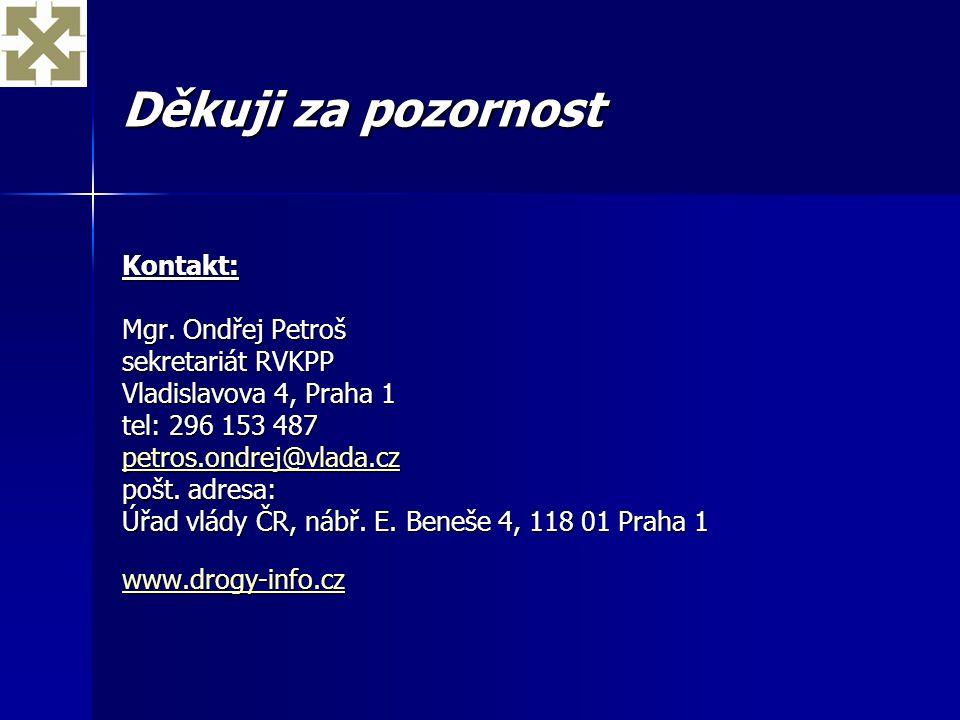 Děkuji za pozornost Kontakt: Mgr. Ondřej Petroš sekretariát RVKPP Vladislavova 4, Praha 1 tel: 296 153 487 petros.ondrej@vlada.cz pošt. adresa: Úřad v