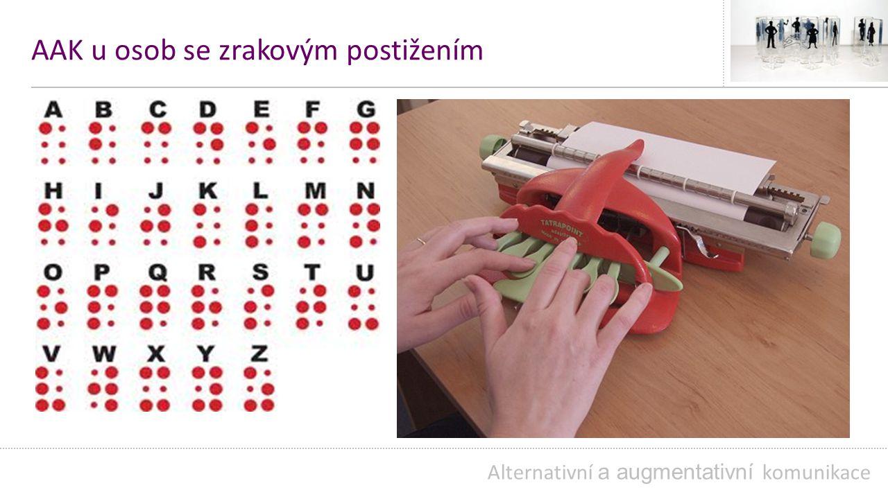 AAK u osob se zrakovým postižením Alternativní a augmentativní komunikace