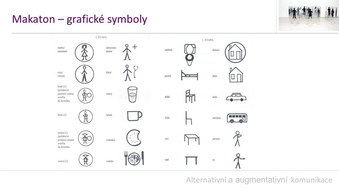 Makaton – grafické symboly Alternativní a augmentativní komunikace