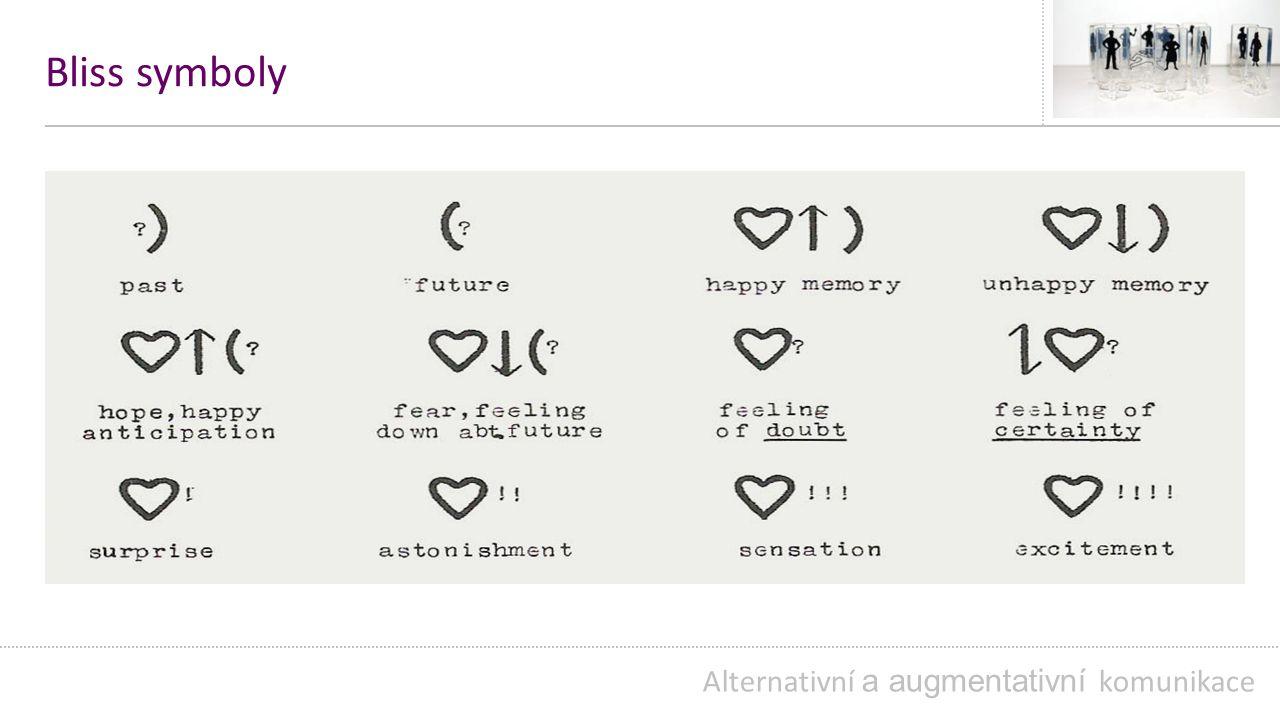 Bliss symboly Alternativní a augmentativní komunikace