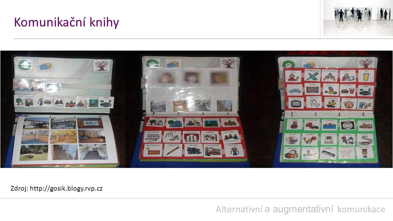 Komunikační knihy Alternativní a augmentativní komunikace Zdroj: http://gosik.blogy.rvp.cz