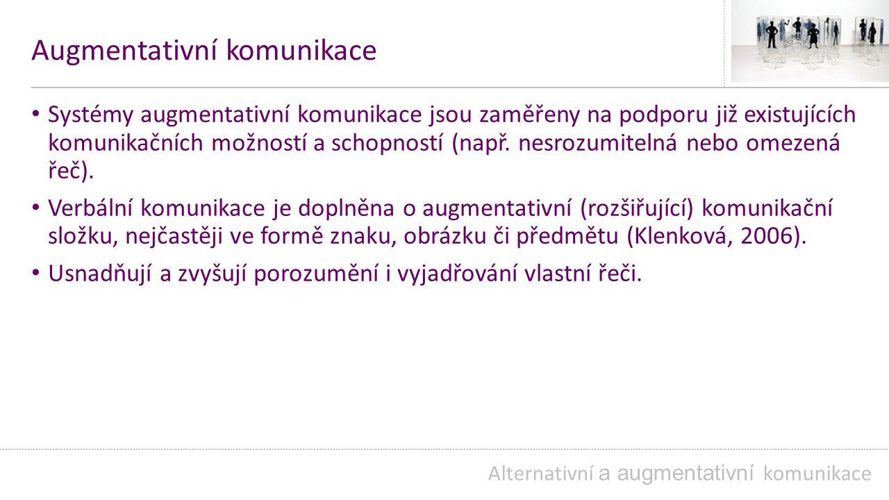 Lormova abeceda Alternativní a augmentativní komunikace