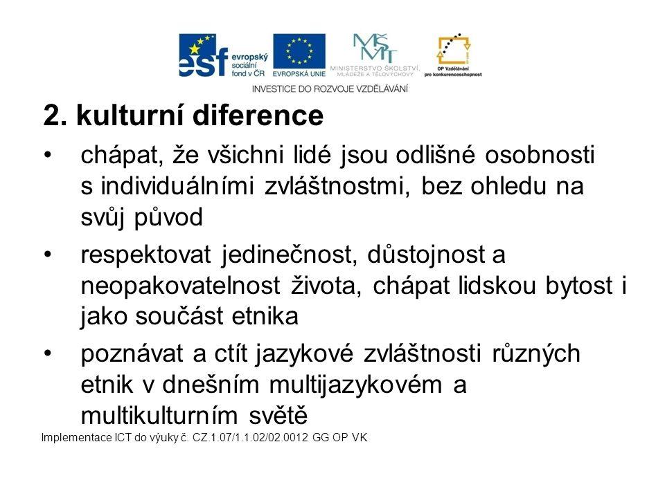 Ochrana před násilnou diskriminací – v českém právním řádu (v trestním zákoně) je obsažena úprava postihující trestné činy s rasistickým motivem Ochrana před nenásilnou diskriminací – do veřejných prostor, zaměstnání a bydlení Implementace ICT do výuky č.