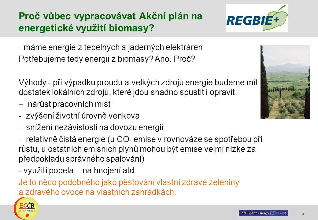 2 target Proč vůbec vypracovávat Akční plán na energetické využití biomasy? - máme energie z tepelných a jaderných elektráren Potřebujeme tedy energii